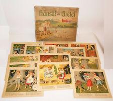 Hänsel und Gretel Lotto von Lothar Meggendorfer um 1910 Legespiel 1x1 !