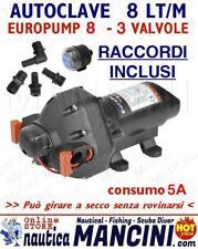 AUTOCLAVE EUROPUMP 8 12V 8 LT/Min POMPA OSCULATI PRESSOSTATO DOCCIA BARCA CAMPER