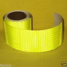 Reflective Safety Warning Tape Fluorescent Yellow Adhesive 50mm x3m Roll Hi-Vis