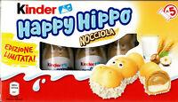 KINDER HAPPY HIPPO (NOCCIOLA) CONFEZIONE DA 5 PEZZI LIMITED EDITION ITALIA 2020