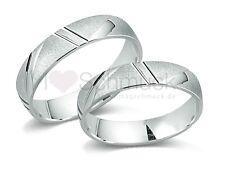 2x Eheringe in 925 Silber mit Lasergravur Verlobungsringe Freundschaftsringe