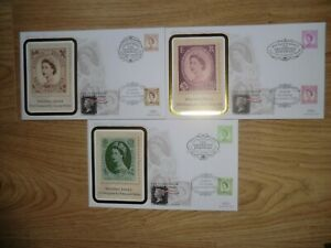 1998 Decimal Booklet Wildings SG 2031-33 Stamp Show 2000 Benham Set(3) FDCs