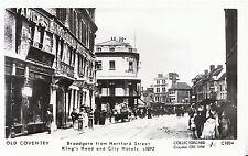 Old Coventry Postcard - Broadgate from Hertford Street, King's Head - Ref.U79