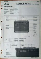 Roland JC-55 Guitar Amp Original Service Manual, Schematics, Parts List Booklet