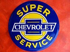 CHEVROLET Blechschild 60cm! Corvette Camaro Trucks Chevy Service Impala Bel Air