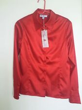 Lana Lee Size  6 Red Rouge Long sleeve Shirt Top Blouse