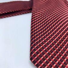 ROBERT TALBOTT New Red Plaid / Textured Necktie