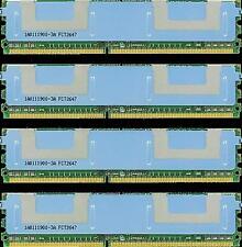 16GB (4X4GB) DDR2 MEMORY RAM PC2-5300 ECC FBDIMM DIMM DUAL RANK