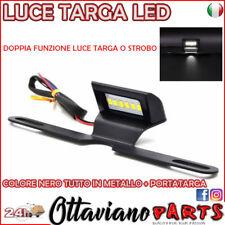 Luce Targa Portatarga Moto Guzzi Triumph Aprilia Benelli Alluminio LED NERO M44