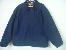 New CornerStone Mens Size 4XL Jacket Coat Navy Blue Work Heavyweight Lined