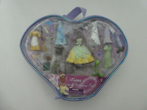 DISNEY TIANA DOLL  - THE FROG & THE PRINCESS  FASHION SET IN CARRY CASE