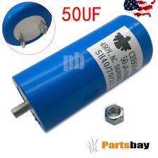Cbb60 Capacitor 250Vac 250V Ac 50uF 50 uF 50Mfd , 50/60Hz , W/Fixing stud , blue