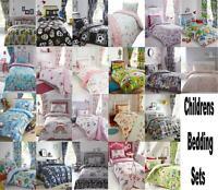 Teenage Children Kids Girls Boys Duvet Quilt Cover Bedding Or Matching Curtains