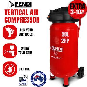 Air Compressor Fendi 50L Portable 2HP Electric Oil Free Compact Vertical Tank