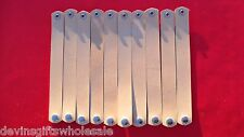 """PREMADE #BR8 LOT OF 10 ROUNDED END TOOLING LEATHER 8"""" BRACELET BLANKS W/SNAP"""