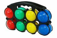 8 PC PLASTIC FRENCH BOULES GAME PENTANQUE BALLS CARRY CASE FUN GARDEN GAMES
