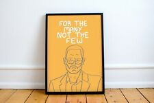 More details for jeremy corbyn print! 'for the many not the few' quote, labour, socialism, left