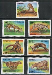 TANZANIA SCOTT#1422/28 ANIMALS SET MINT NH