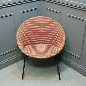 Vintage Mid Century Satellite Chair 50s Atomic Early Woven Material not Plastic