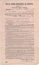 Original Nora Bayes and Edith Rook signed contract for Her Family Tree Co., 1920