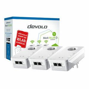 devolo Mesh WLAN 2 Multiroom Kit Tri-Band Home Network App Ethernet Steckdose