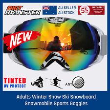 Adult SNOW SKI SKATE GOGGLES Professional Anti-fog UV 400 Double Lens Protection