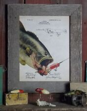 Fishing Lure Patent Poster Art Print Antique Muskie Walleye Reels Fish PAT152