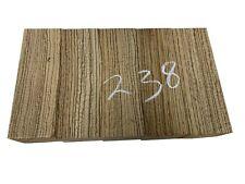 """5 PACK, Zebrawood Turning Wood Blank Lathe/Spindle Blanks 2""""x2""""x6"""" Free Ship#238"""