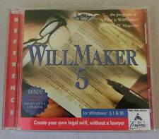 SoftKey WillMaker 5 Create Your Own Legal Will Without a Lawyer Windows CD-ROM