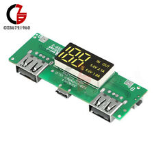 QC5V 2.1A/1A Dual USB Mobile Power Bank 18650 Battery Charger Module Boost Board