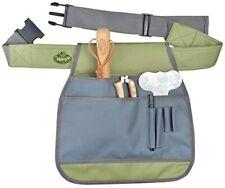 Esschert Design Garden Tool Belt / Apron, Canvas, Green & Gray w/ Plastic Clasps