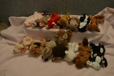 15 Beanie Babies Guaranteed Authentic Farm Animals Some Rare Daisy Derby