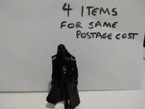 Vintage Star Wars NICE TINY WEAR Darth Vader Figure With Original Cloak NoSplits
