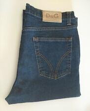"D&G Mens Sz 36/50 AU32"" Slim Fit Jeans Button Fly VTG Blue Stretch VGC - Altered"