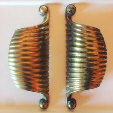 coppia maniglie in ottone porta midcentury vintage brass door handles gio ponti