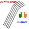 """5x Reusable Stainless Steel Metal Straws Drinking Straws 8.5"""" ECO Party Home"""