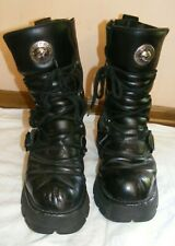 New Rock Platform Metallic Boots style 373 S1 Punk Goth size 8 1/2 UK - EU 43