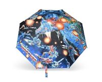 $175 AW17 Moschino Couture Jeremy Scott Transformers Polyester Techno Umbrella