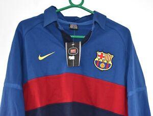 BNWT Y2K VINTAGE DEADSTOCK NIKE BARCELONA FC FOOTBALL SHIRT RUGBY SHIRT MEDIUM