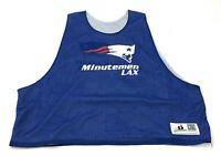 Minutemen LAX Lacrosse Jersey Size L-XL Blue White Shirt Tank Top Men REVERSIBLE