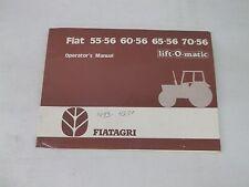 Fiat 55-56 60-56 65-56 70-56 Lift-O-Matic Operators Manual