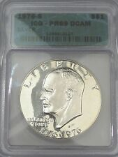 "1976-s Silver Proof ""Ike"" Eisenhower Dollar. ICG PR69 DCAM.  #146"