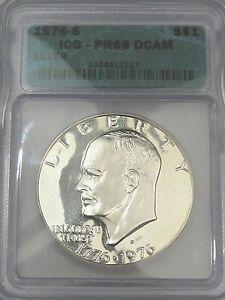 "1976-s Silver Proof ""Ike"" Eisenhower Dollar. ICG PR69 DCAM. #146"