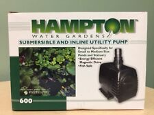 Hampton Water Gardens Pond & Statuary Pump 600 - For Submersible or In-Line Use