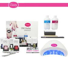 CND Shellac Deluxe Nail Gel Polish Kit - 48W LED Lamp UV 100% GENUINE FREE P&P