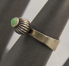 1968 VINTAGE Jewelry ERIK GRANIT FINLAND MODERNIST STERLING TURQUOISE RING SZ 5