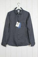 Camicie casual da uomo grigie con colletto