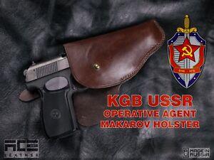 KGB USSR AGENT Handmade Leather Holster