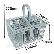 Universal Dishwasher Grey Cutlery Basket Removable Handle 220 X 160 X 210 Mm