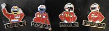 176° PIN'S / PINS lot x4  F1 Alesie, Prost , Senna, Berger